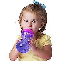 Nuby 2 unidades de vasos de fácil agarre, de fácil agarre, 10 onzas, los colores pueden variar
