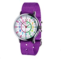 EasyRead Time Teacher Learn The Time Past/To Children's Watch Purple #ERW-COL-PT