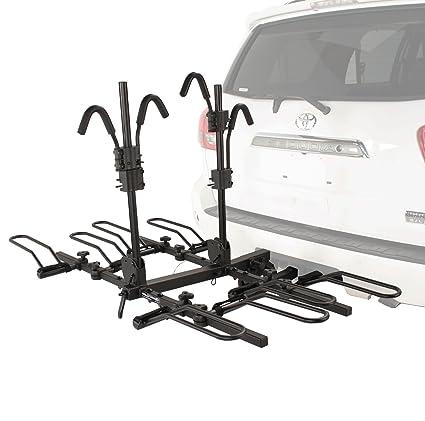 tray car rack style mounted on raceway platform bike trunk thule