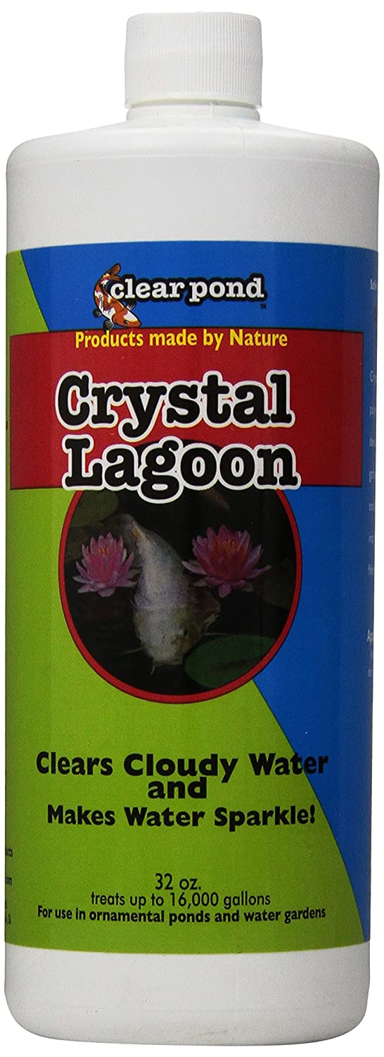 Clear Pond Crystal Lagoon Water Clarifier, 32-Ounce Clear Pond Products 30114