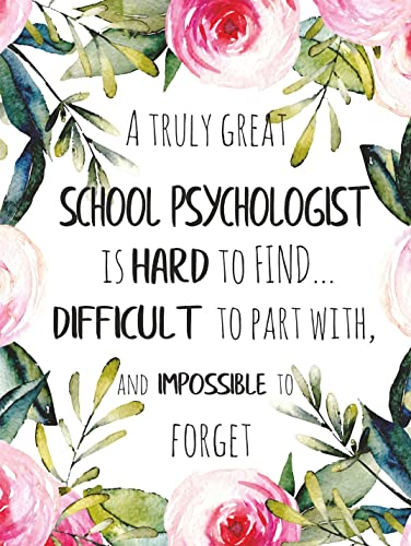 Amazoncom A Truly Great School Psychologist Is Hard To Find Poster