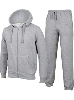 Fabrica Fashion Mens Tracksuits Set Plain Fleece Slim FIT Zip Up Hoodie Tops and Jogging Bottoms