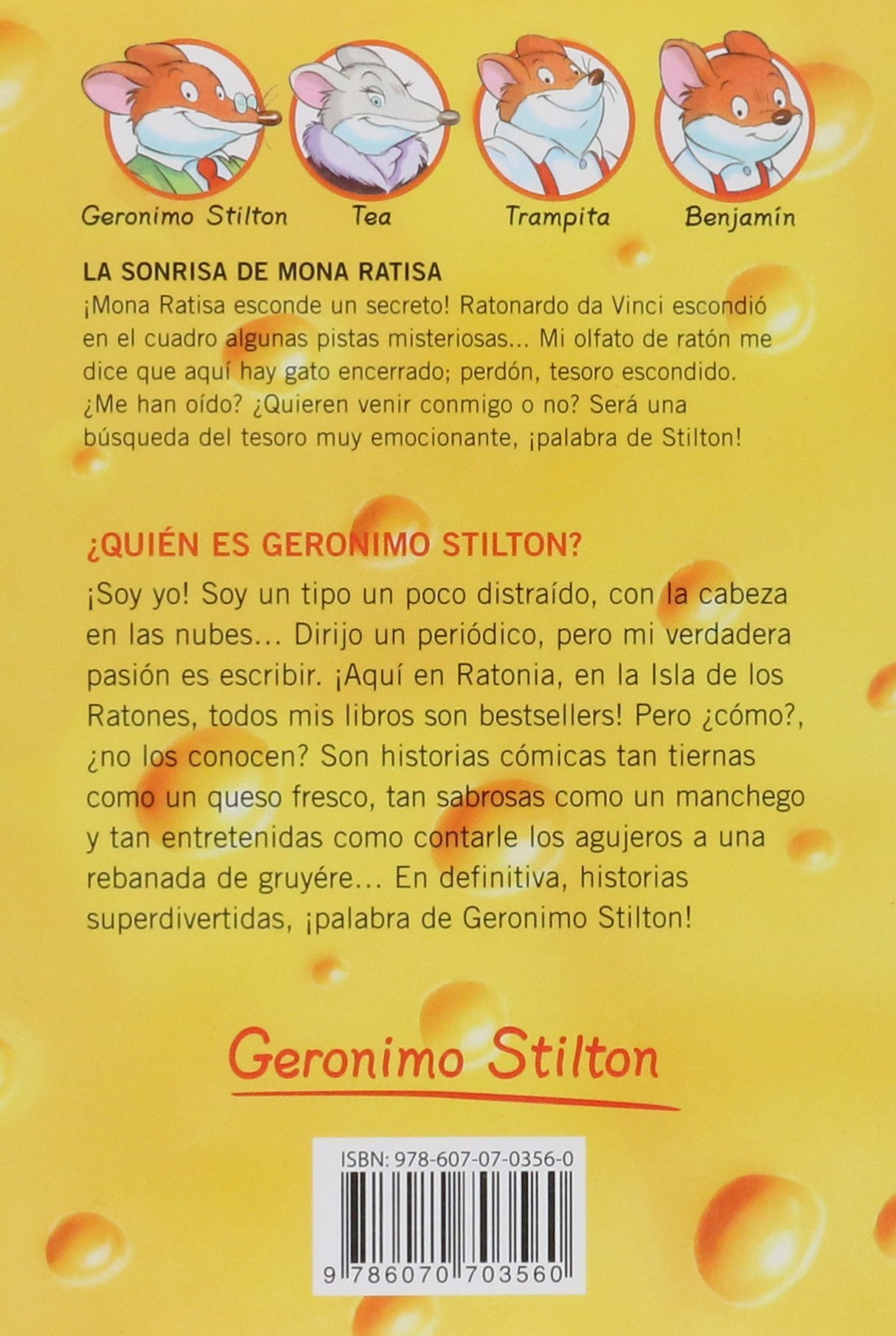 La Sonrisa de Mona Ratisa (Spanish Edition): Geronimo Stilton: 9786070703560: Amazon.com: Books