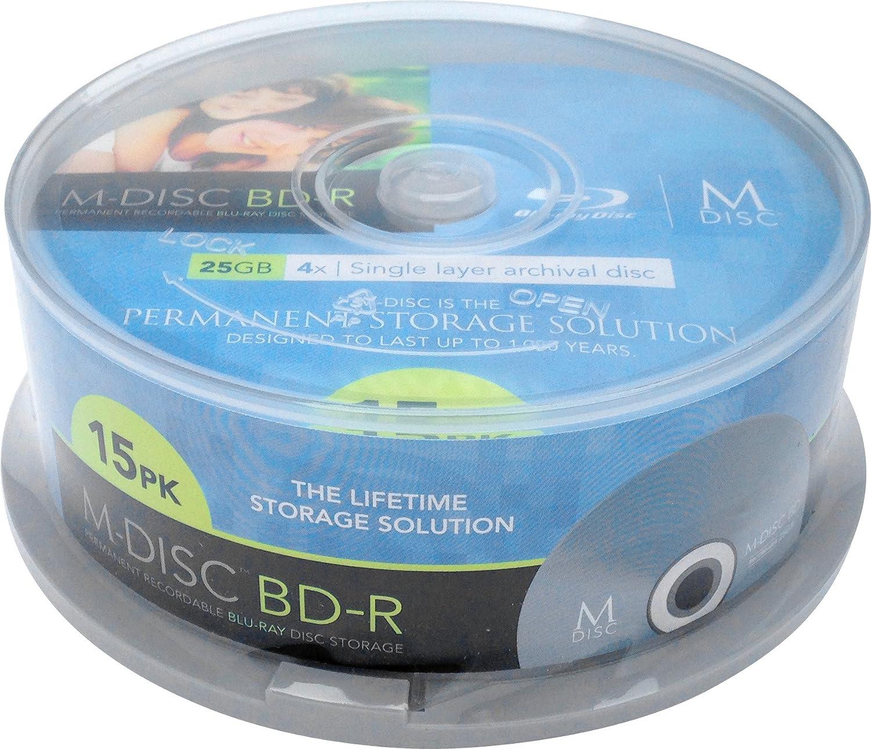 Millenniata M-DISC Blu-ray Rohling 25GB MDBD015 15 St.: Amazon.co.uk ...
