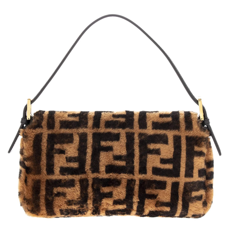 9c23d02e63b7 Amazon.com  Fendi FF Logo Printed Sheepskin Fur Baguette  TheLuxuryClub