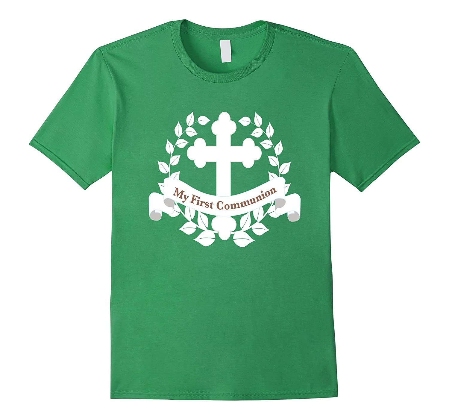 6dedf6eb8 First Communion Shirt Gift Kids Son Daughter Boutique Cross-TD – Teedep