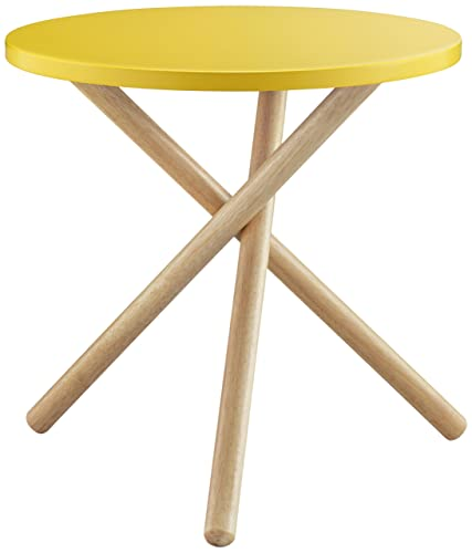ACME Lanica Yellow and Natural End Table