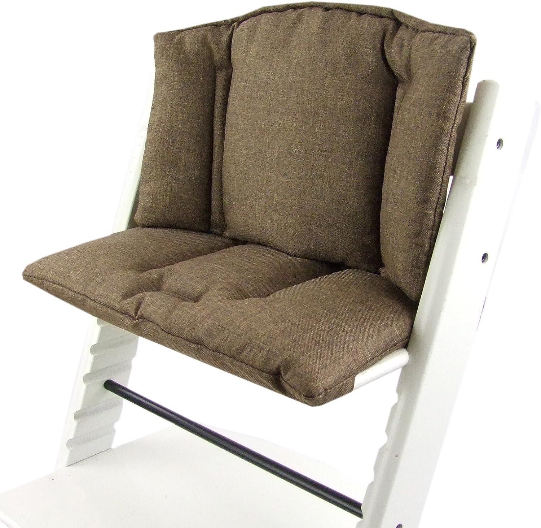 funda coj/ín de repuesto marine en 14/colores asiento de 2/piezas BambiniWelt Coj/ín de asiento para trona Stokke Tripp Trapp jaspeado