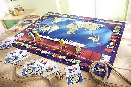 HABA 4530 Terra - Juego Infantil sobre los países del Mundo (en alemán): Amazon.es: Juguetes y juegos