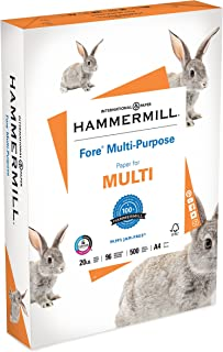product image for Hammermill A4 Paper, Fore Multipurpose 20 lb Printer Paper - 1 Ream (500 Sheets) - 96 Bright, Made in the USA