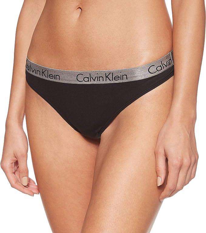 Calvin Klein Damen Radiant Cotton Thong String