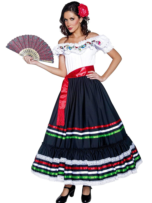 SENORITA MEXICAN SPANISH BLACK ADULT WOMENS WIG