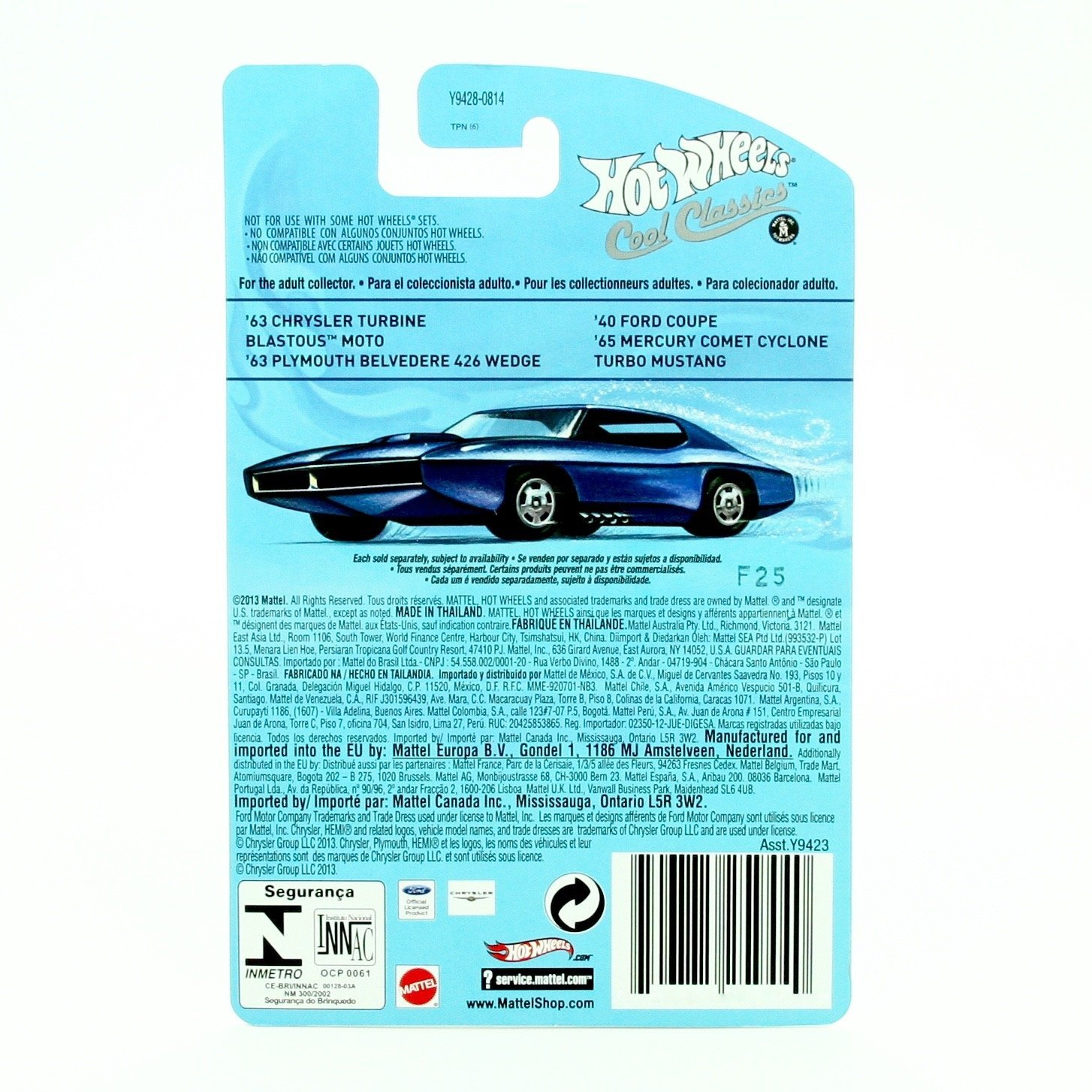 Amazon.com: TURBO MUSTANG 6 of 30 Hot Wheels 2013 SPECTRAFROST COOL CLASSICS Die-Cast Vehicle: Toys & Games