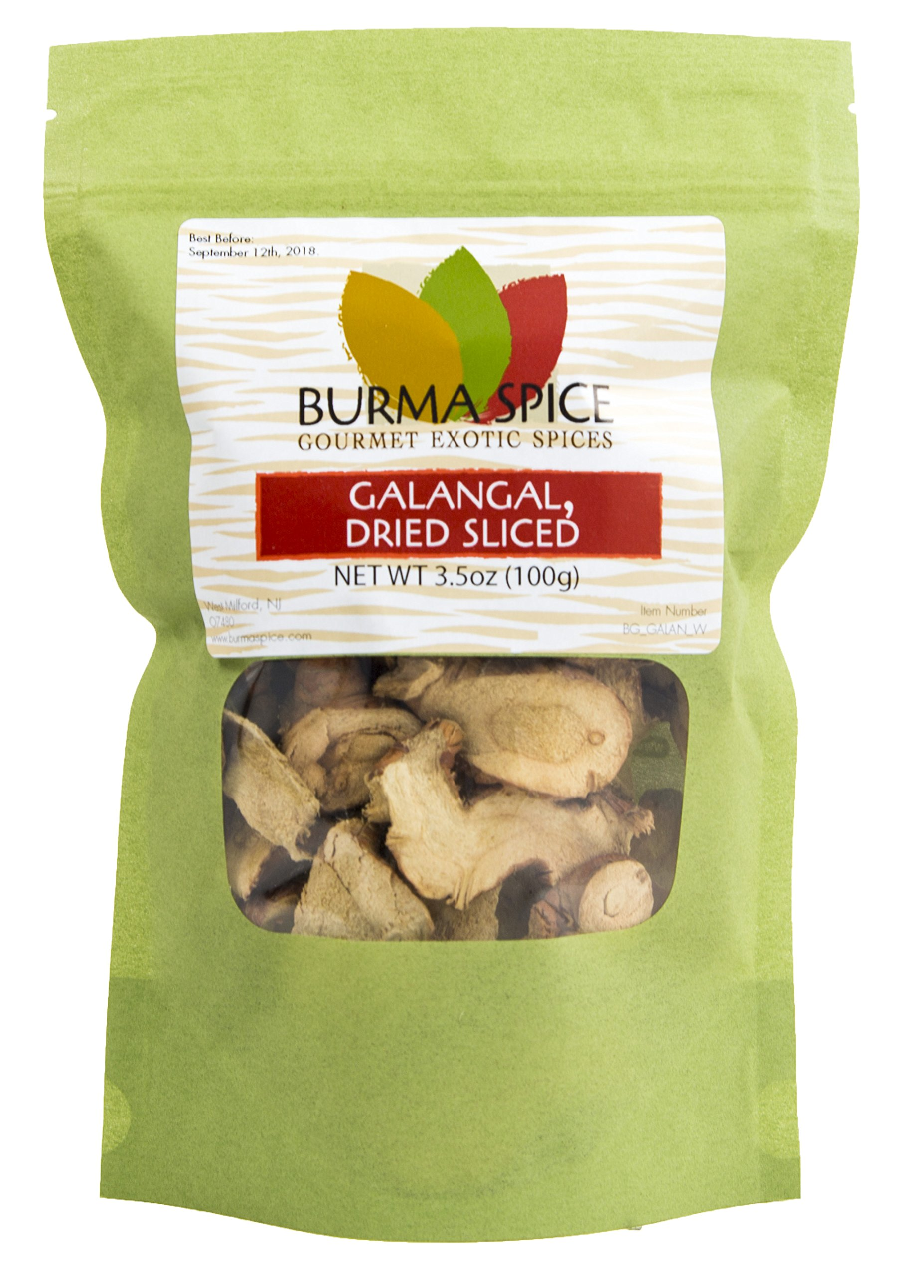 Sliced Dried Galangal (Greater), 3.5oz.