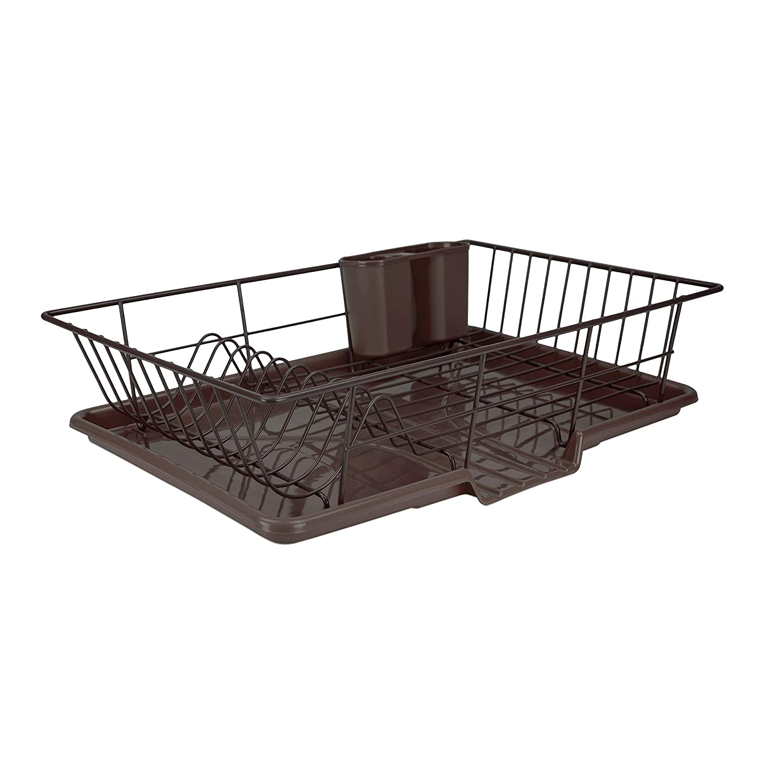 Home Basics DD30236 Dish Drainer Set (3 Piece), Bronze