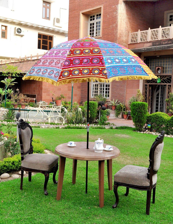 Amazon.com : Lalhaveli Indian Handmade Designer Multi Color Outdoor ...