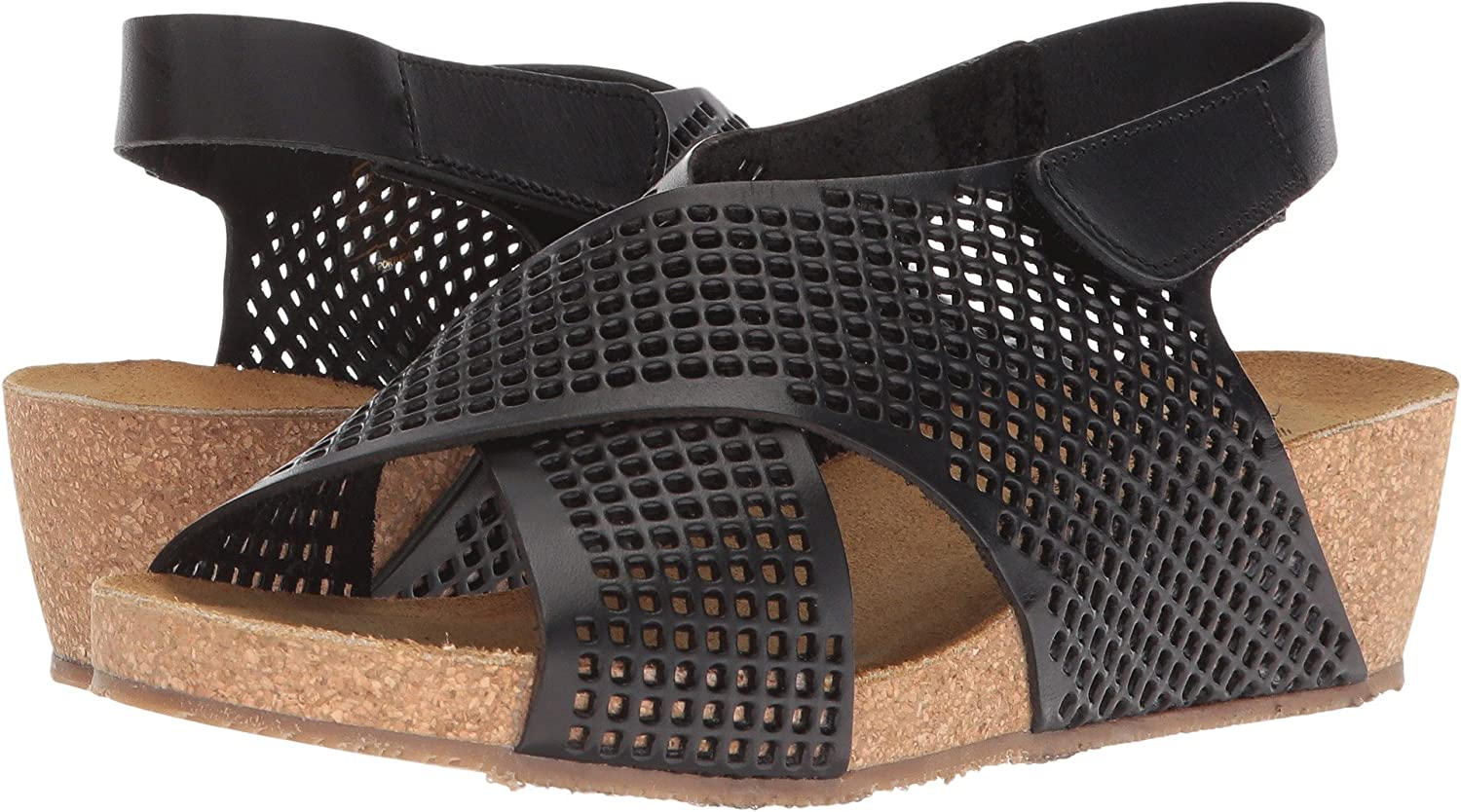 Eric Michael Womens August Wedge Sandal B076BYYMN6 39 M EU|Black