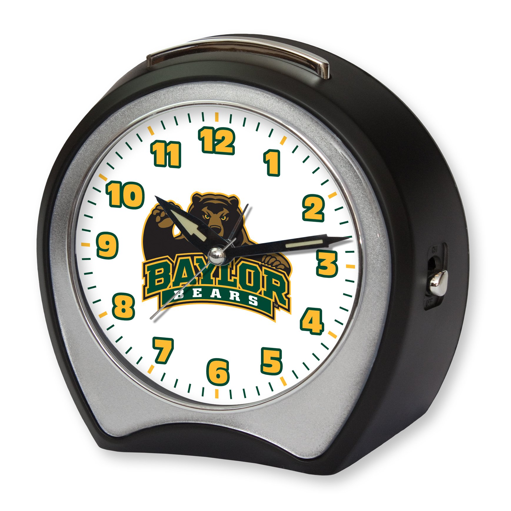 NCAA Collegiate Team Glow-in-the-Dark Table Musical Alarm Clock: Baylor University