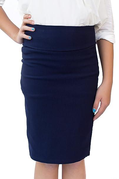 8ca9f8a902 Amazon.com: CALDORE USA Girls 7-16 Pencil Skirt Stretchable Knee Length:  Clothing