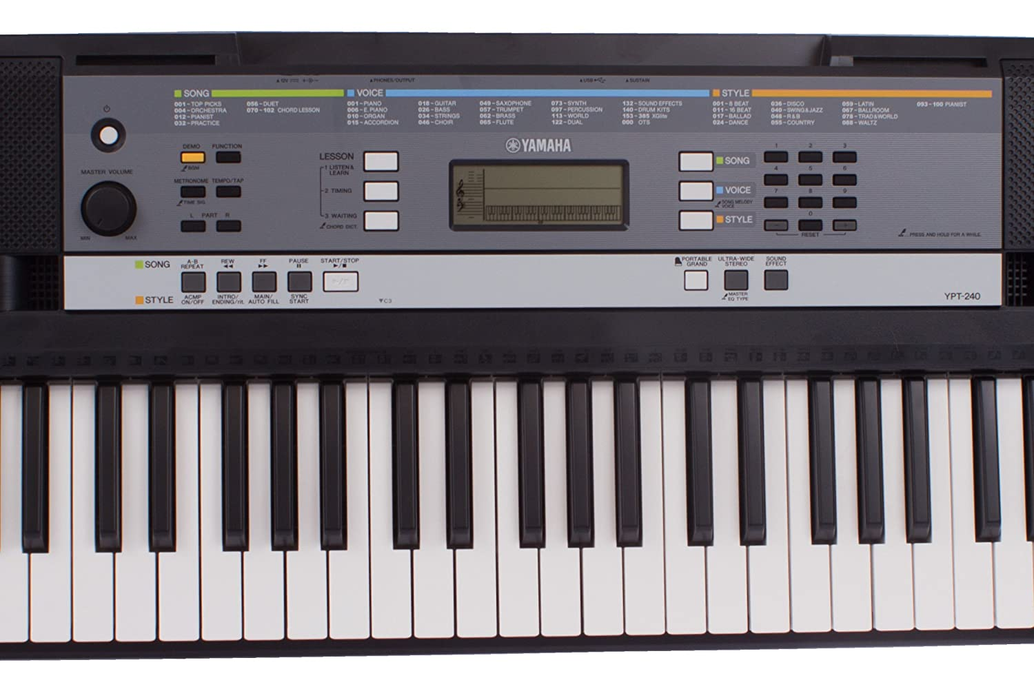 yamaha digital musique clavier piano ypt320 240 connexion a iphone ipad ou ipod touch possible. Black Bedroom Furniture Sets. Home Design Ideas