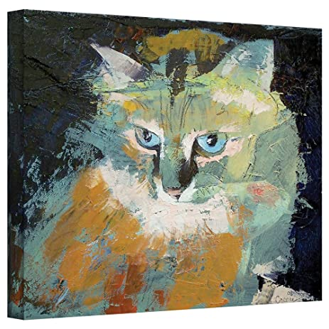 amazon com art wall himalayan cat gallery wrapped canvas art by