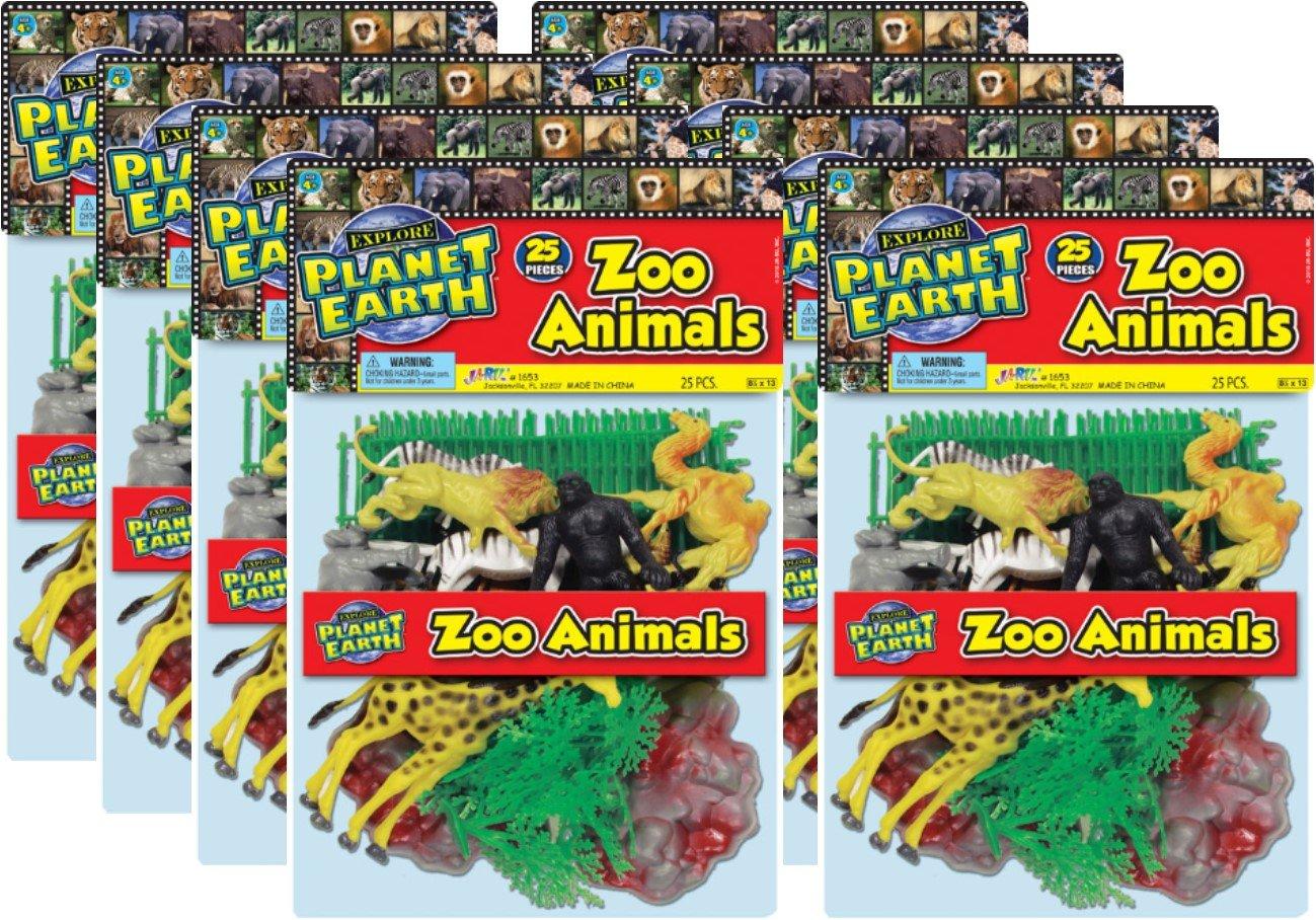 Ja-Ru Planet Earth Zoo Animals Bundle Pack (34 Piece)