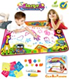 SupMLC Water Drawing Mat Doodle Colorful Extra Large Size 34.6 X 22.8 Inches for Kids Doodle Learning Toy Educational Boys Girls Gift Included Draw Templates with 2 Magic Pens
