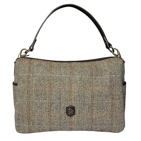 d001945c7148 Bonfanti Italian Leather And Harris Tweed Large Shoulder Bag (light brown  herringbone)  Amazon.ca  Luggage   Bags
