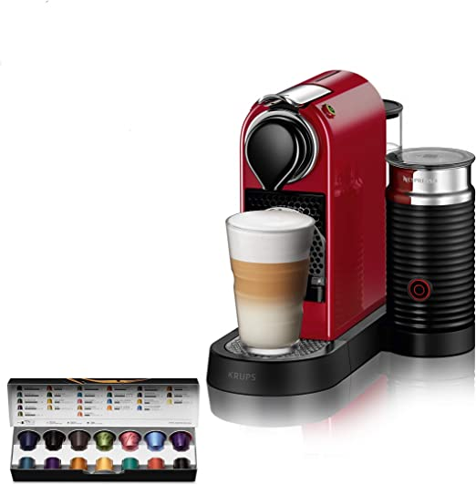 Nespresso Citiz XN7615 Roja EU, acero inoxidable, Citiz&Milk Granate: Amazon.es: Hogar