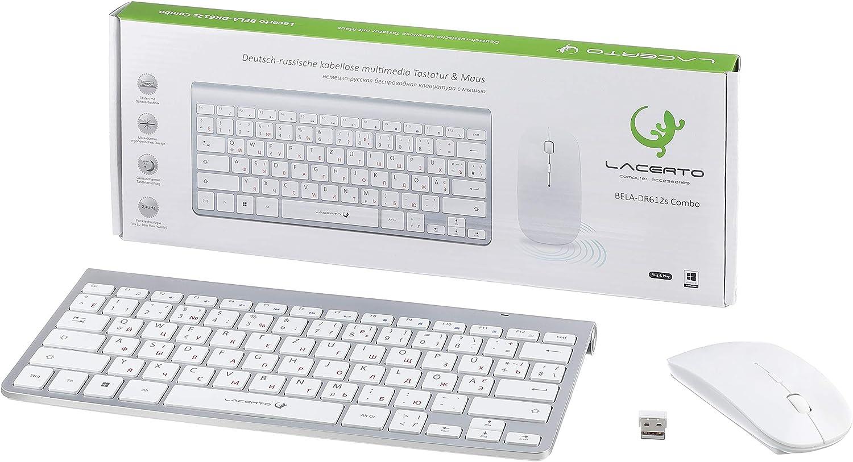 Spritzwassergesch/ützt Lacerto/® Russisch-Deutsche beleuchtete Tastatur Russisch Deutsch SPECTRUM-DR500 Neue /überarbeitete Version USB