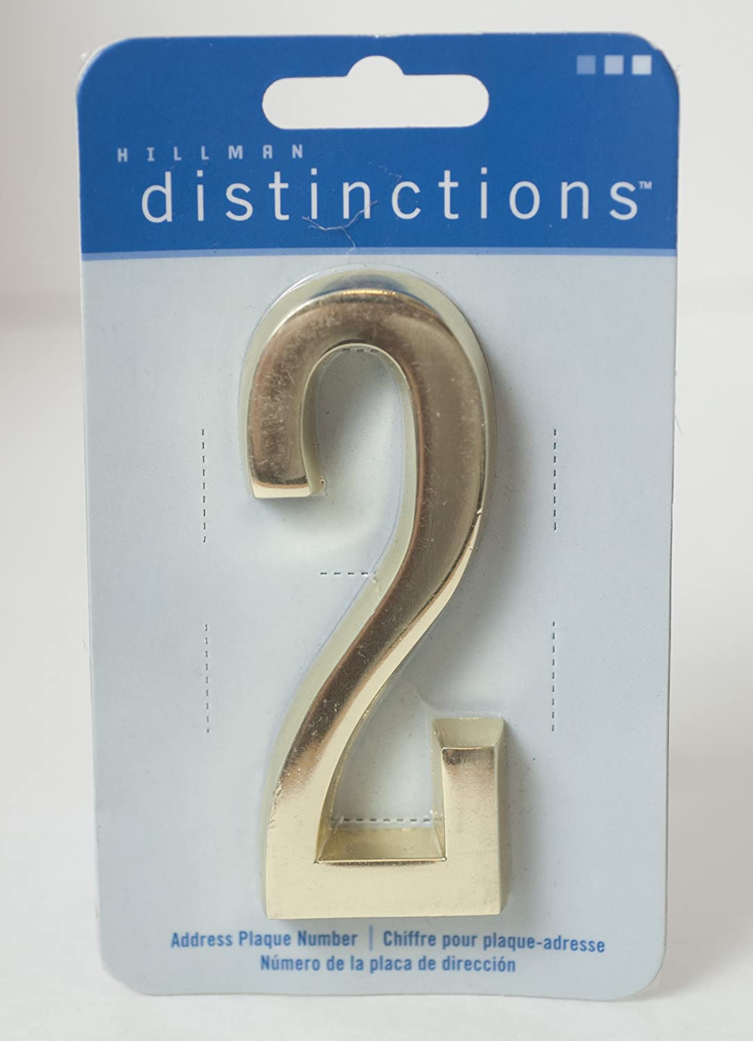 The Hillman Group 4 in. Distinctions Brass Plated Number 1 843271