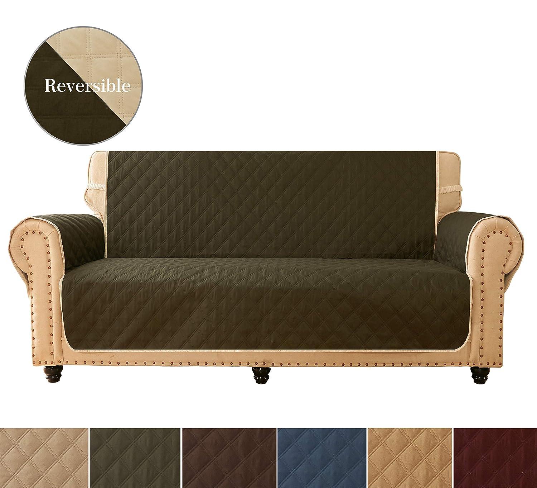 Amazon.com: ameritex fundas de sofá, Slipcovers, reversible ...