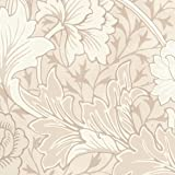 リリカラ 壁紙10m ナチュラル 花柄 ベージュ MORRIS & Co.  -Licensed Collection- LW-2549