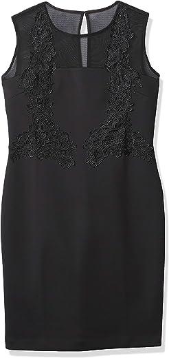 فستان نسائي ضيق من Calvin Klein مع دانتيل وبطانة شبكية