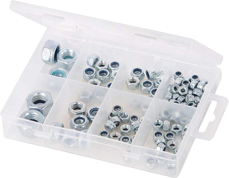Steel Hexagon Shape Nylon Nuts in Sizes M4-M12 432x Lock Nuts