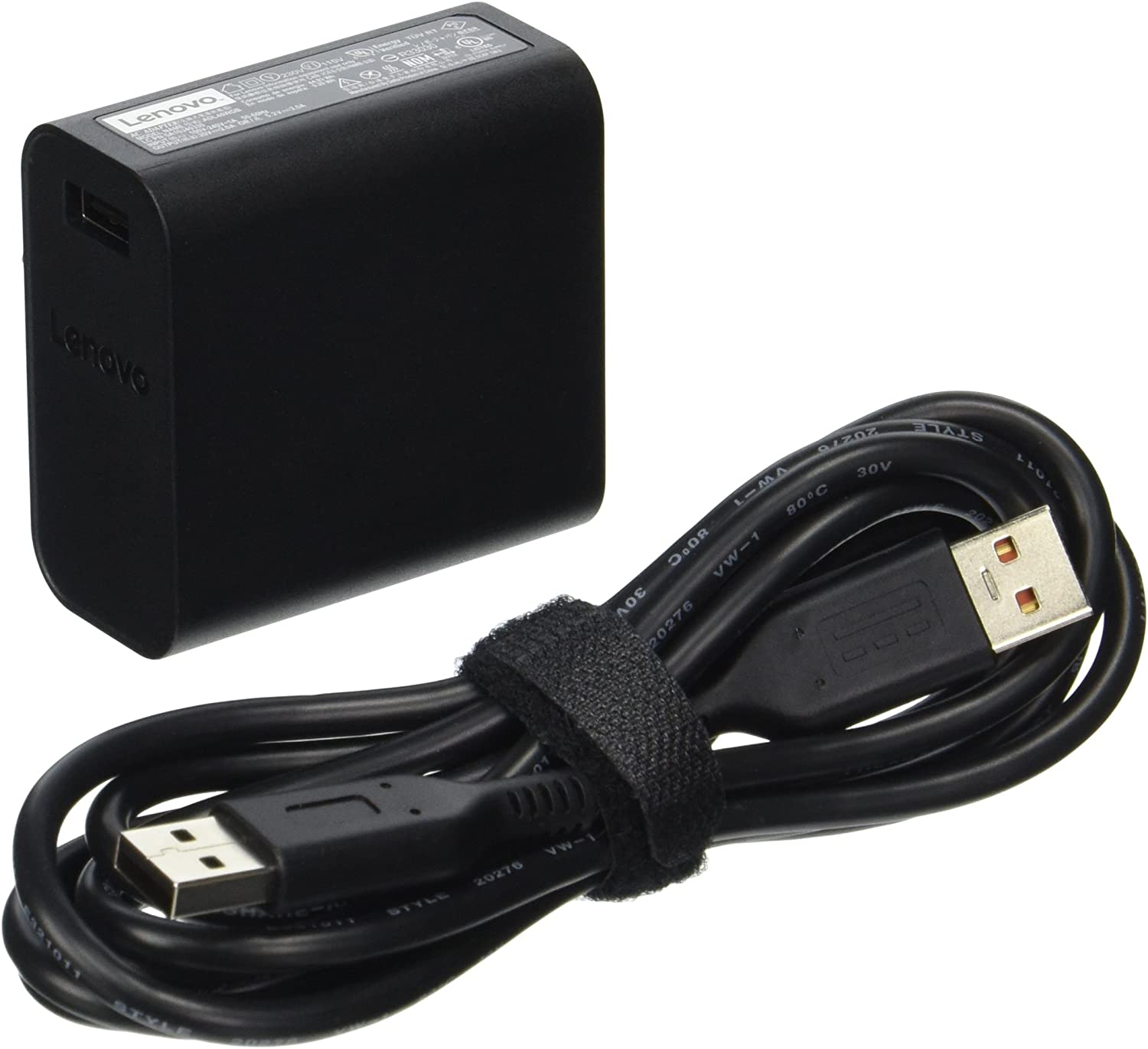 Lenovo 40W Computer Charger - Slim Travel AC Adapter (GX20H34904)