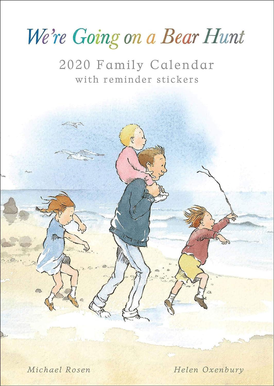 Were Going on a Bear Hunt 2020 Calendario familiare formato A3 con adesivi promemoria