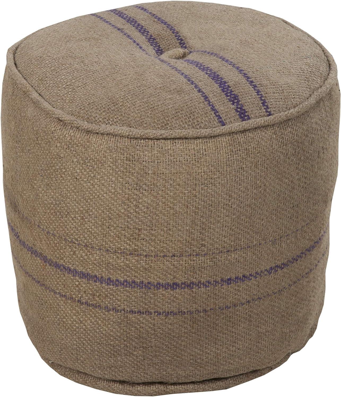 Amazon Com Artistic Weavers Decorative Pouf 18 By 18 By 17 Inch Beige Furniture Decor