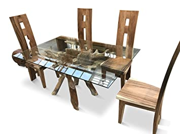 Chelsea Home And Leisure Ltd Teak Root Dining Table 150cm With 4