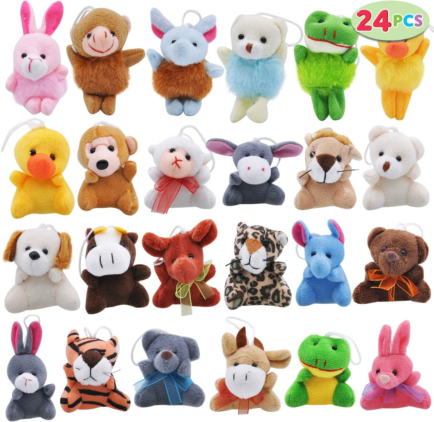 Joyin Toy 24 Pack Mini Animal Plush Toy Assortment (24 units 3