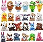 Joyin Toy 24 Pack Mini Animal Plush Toy Assortment (24 units