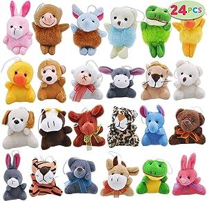 Joyin Toy 24 Pack Mini Animal Plush Toy Assortment (24 units 3