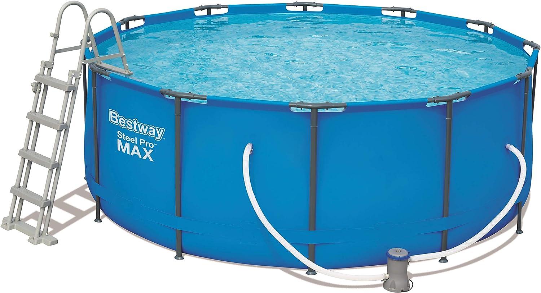 Bestway 56420 Steel Promax Pool ø366 X 122 CM, Marco de Acero ...