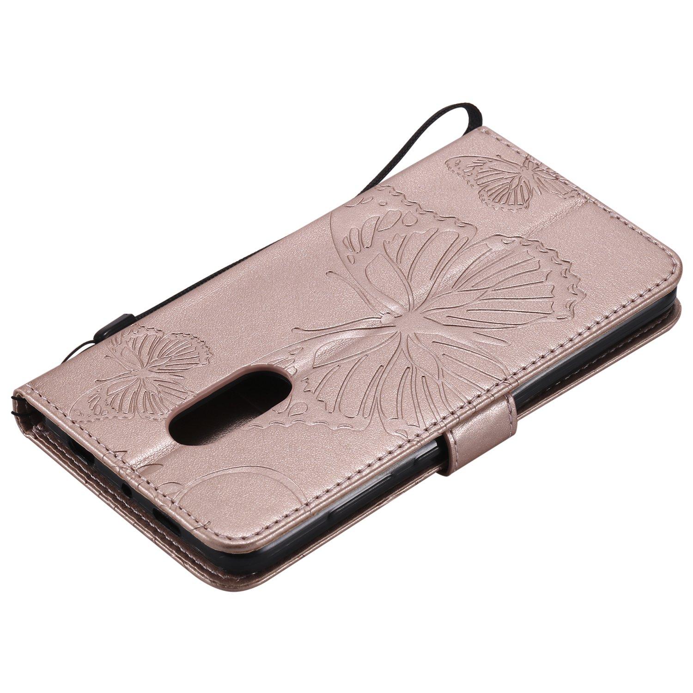 Custodia Portafoglio in Pelle Porta Carta di Credito con Chiusura Magnetica per Xiaomi Redmi Note4 Lomogo Cover Xiaomi Redmi Note 4 LOKTU22093 Rosso