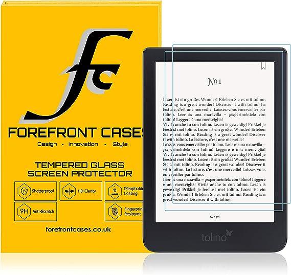 Forefront Cases Protectores Pantalla de Vidrio Templado para Tolino Shine 3 [Paquete DE 2] | Cristal Ultra Delgado 0.3mm y Dureza 9H | Anti Huellas: Amazon.es: Electrónica