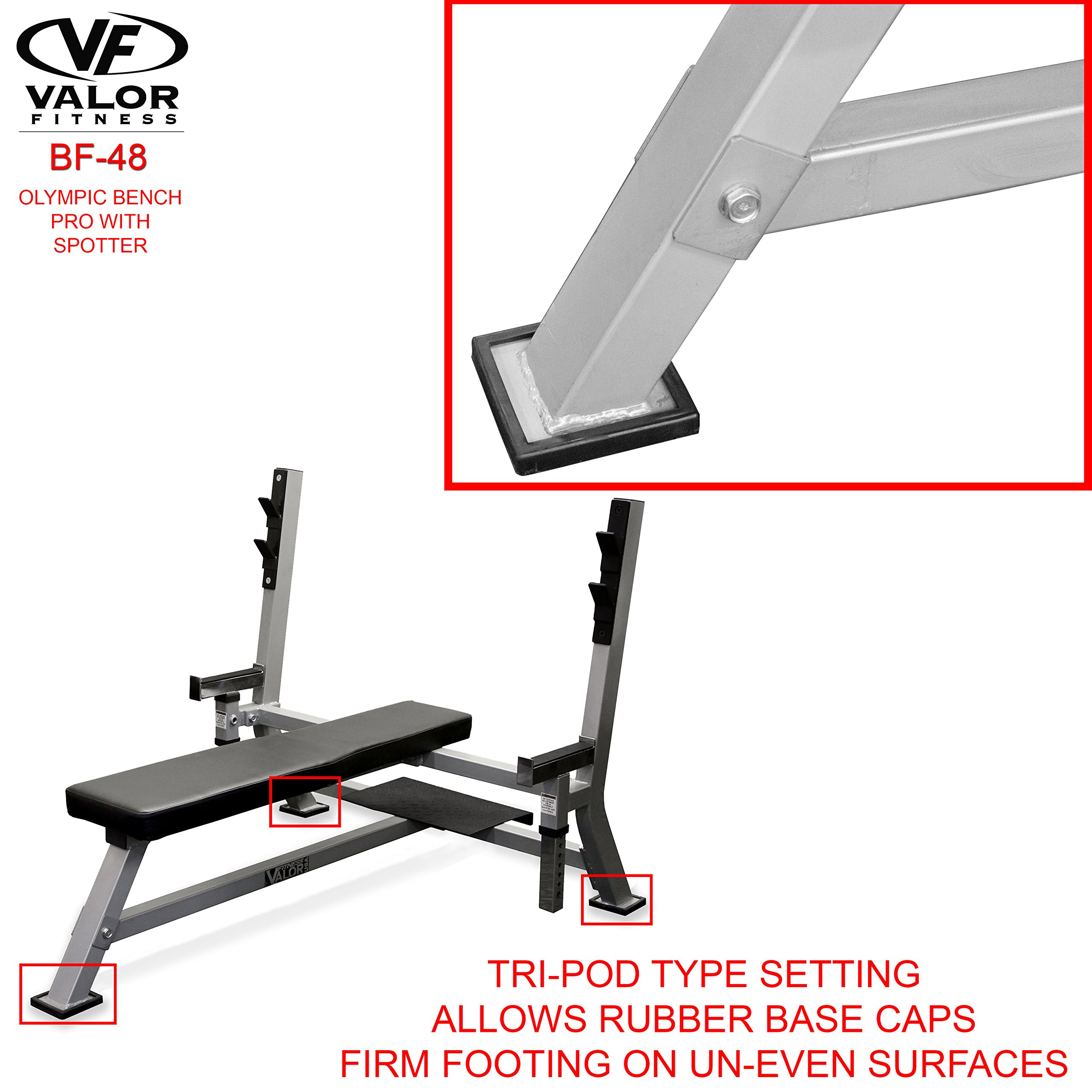 Valor Fitness BF-48 Olympic Bench Pro with Spotter by Valor Fitness (Image #7)