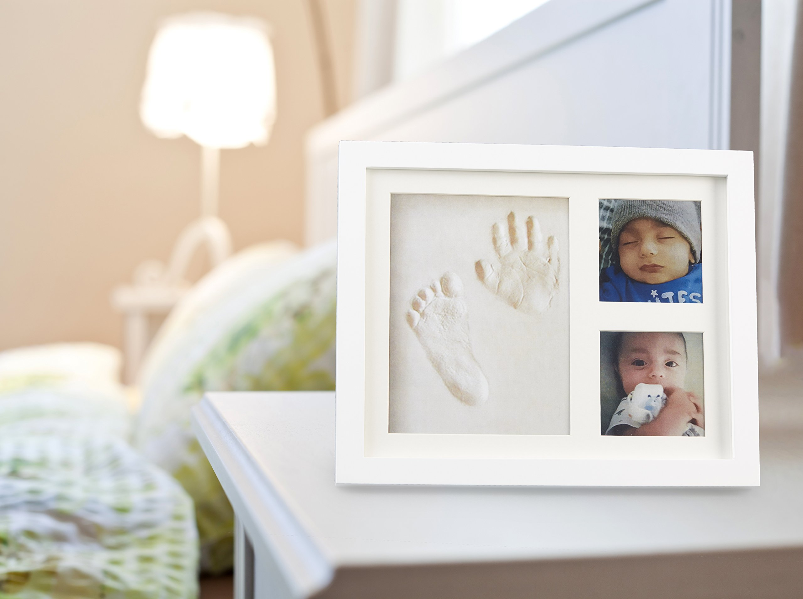 Baby Handprint Picture Frame Clay Kit for Newborn Girls and Boys by Baby Yei - The Photo Frames are Fully Painted White-Prevents Mold Creation-Safe for Treasuring your Angel's First Precious Memories by Baby Yei (Image #9)