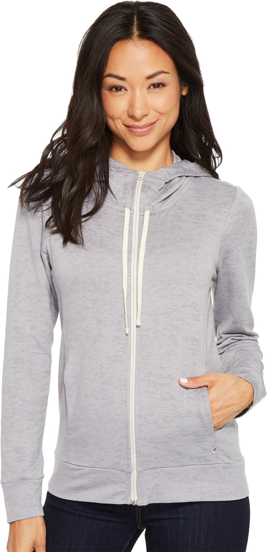Mountain Hardwear Women's Burned Out Full Zip Hoody, Manta Grey, M