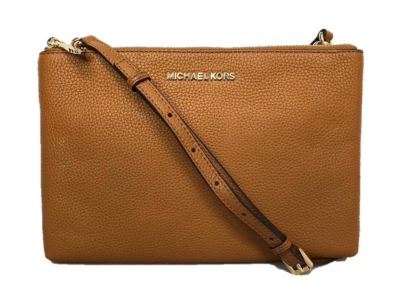 0aeb513a2d39 Michael Kors Jet Set Travel Double Zip Gusset Signature Crossbody (Black):  Handbags: Amazon.com