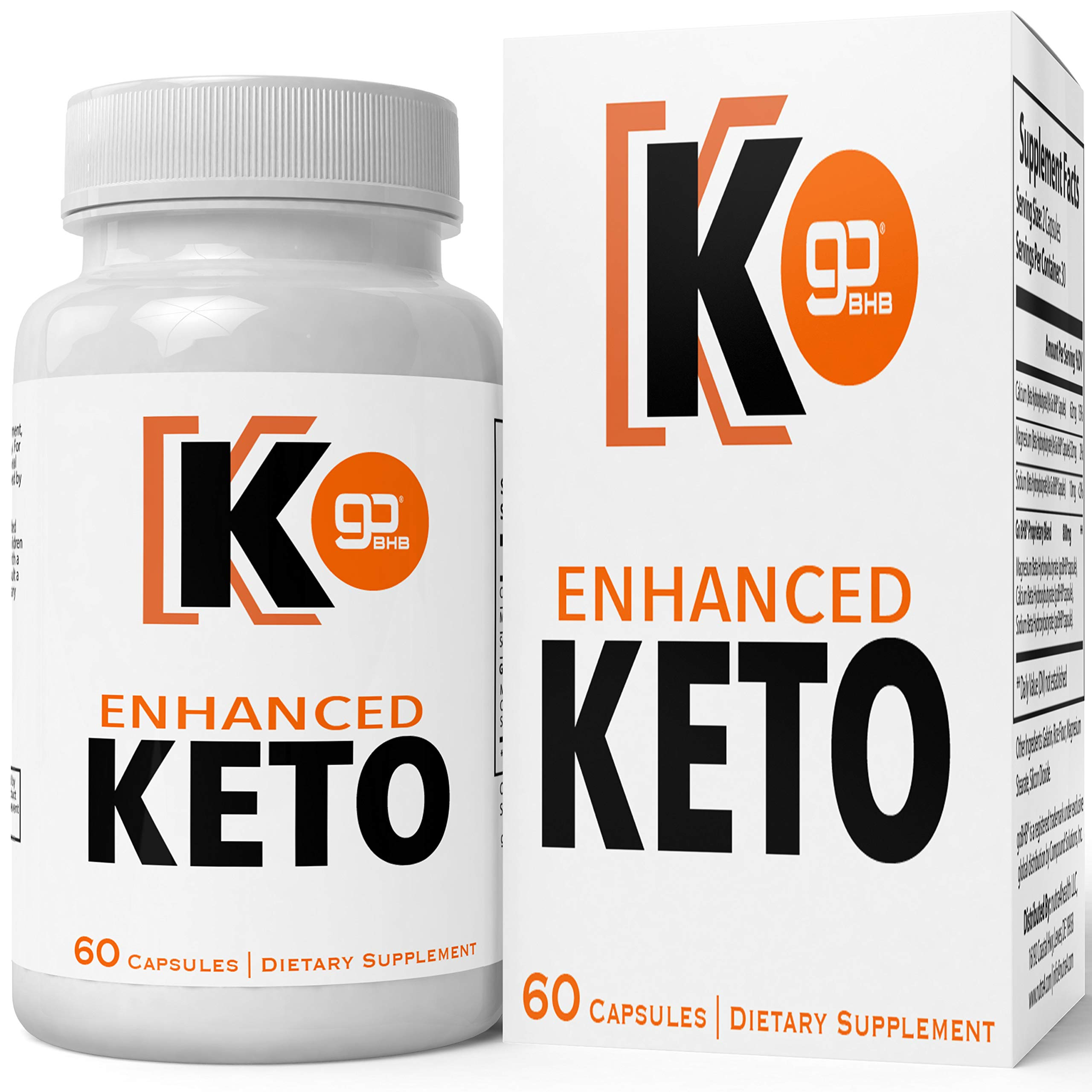Enhanced Keto Advanced Weight Loss Pills, Extreme Natural Ketogenic Burn Fat Supplement, 800 mg Formula with New True Slim Supplements GO BHB Salts Formula, Appetite Suppressant Capsules by nutra4health LLC